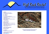 High Rock Rental Web Design by Mystic Design and Print