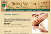 Reno Massage NV Web Design by Mystic Design and Print